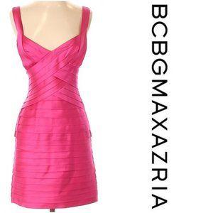 BCBG Satin Laser Cut Bandage Cocktail Dress- Sz. 2
